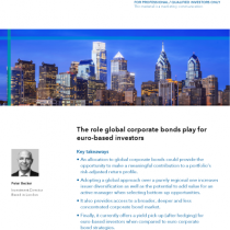 The role global corporate bonds play for euro-based investors