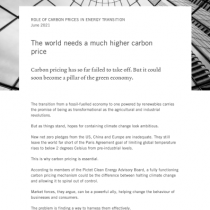 The world needs a much higher carbon price