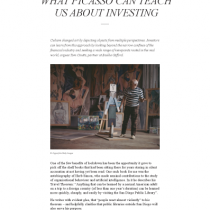 What Picasso Can Teach Us About Investing