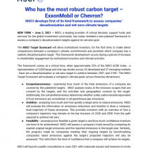 Who has the most robust carbon target – ExxonMobil or Chevron?