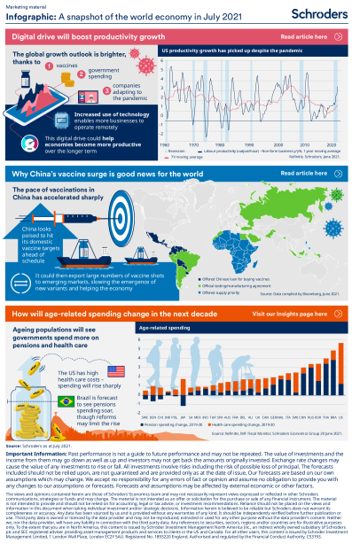 A snapshot of the world economy in July 2021