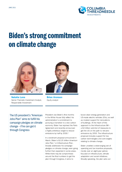Biden's strong commitment on climate change