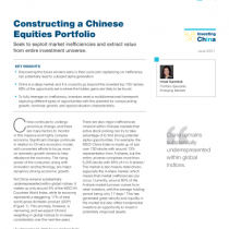 Constructing a Chinese Equities Portfolio