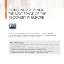 Consumer revenge – the next stage of the recovery in europe