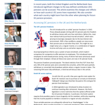 DC pensions: UK and NL experiences