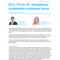 EU's 'Fit for 55' strengthens sustainable outcomes focus