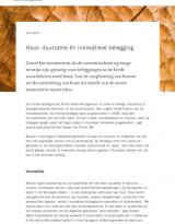 Hout: duurzame én innovatieve belegging
