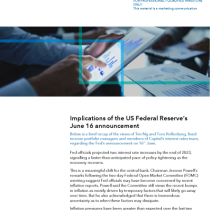 Implications of the US Federal Reserve's June 16 announcement