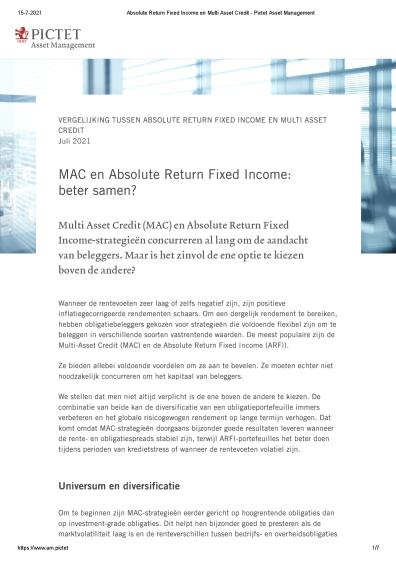 MAC en Absolute Return Fixed Income: beter samen?