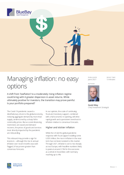 Managing inflation: no easy options