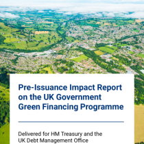 Pre-Issuance Impact Report on the UK Government Green Financing Programme