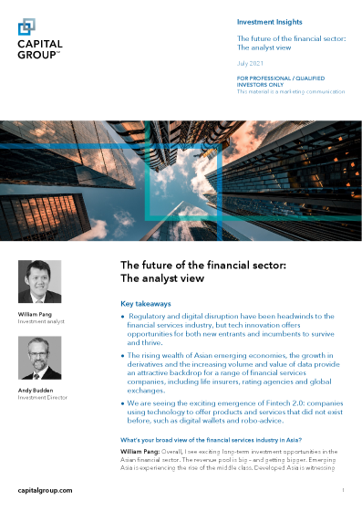 The future of the financial sector: The analyst view