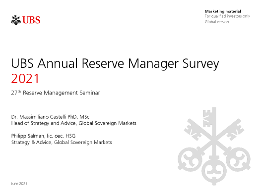 UBS Annual Reserve Manager Survey 2021