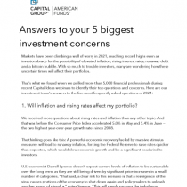 Answers to your 5 biggest investment concerns