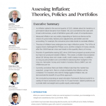 Assessing Inflation: Theories, Policies and Portfolios