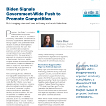 Biden Signals Government-Wide Push to Promote Competition