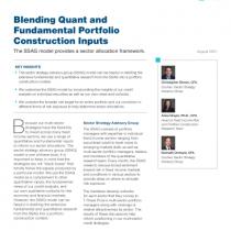 Blending Quant and Fundamental Portfolio Construction Inputs