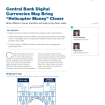 """Central Bank Digital Currencies May Bring """"Helicopter Money"""" Closer"""