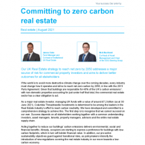 Committing to zero carbon real estate
