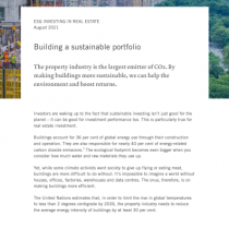 Esg Investing In Real Estate