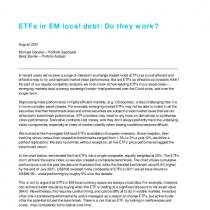 ETFs in EM local debt: Do they work?