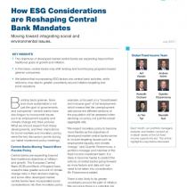 How ESG Considerations are Reshaping Central Bank Mandates