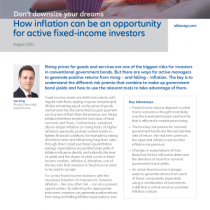 How inflation can be an opportunity for active fixed-income investors
