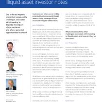 Illiquid asset investor notes