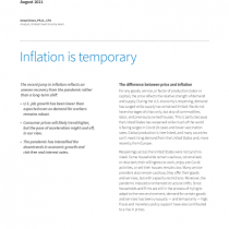 Inflation is temporary