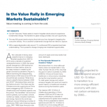 Is the Value Rally in Emerging Markets Sustainable?