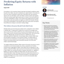 Predicting Equity Returns with Inflation