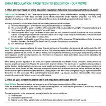 What are your views on China education regulation