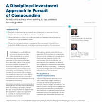 A Disciplined Investment Approach in Pursuit of Compounding