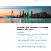Above the cloud: investment opportunities across the value chain