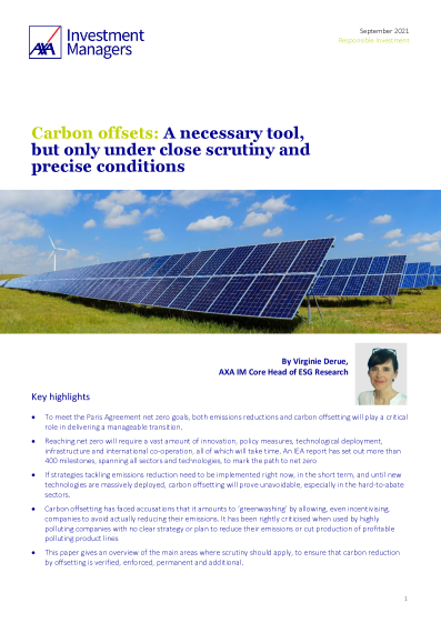 Carbon offsets: A necessary tool, but only under close scrutiny and precise conditions