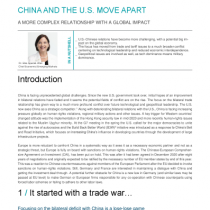 china and the US move apart