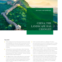 China: the landscape has changed