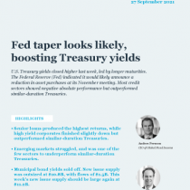 Fed taper looks likely, boosting Treasury yields