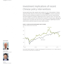 Investment implications of recent Chinese policy interventions