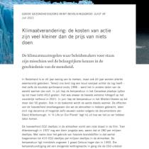 Klimaatverandering: de kosten van actie zijn veel kleiner dan de prijs van niets doen