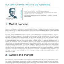 Our Monthly Market Analysis And Positioning