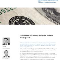 Quick take on Jerome Powell's Jackson Hole speech