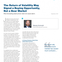 The Return of Volatility May Signal a Buying Opportunity, Not a Bear Market