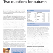 Two questions for autumn