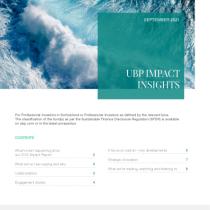 UBP impact insights – September 2021
