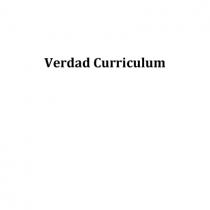 Verdad Curriculum