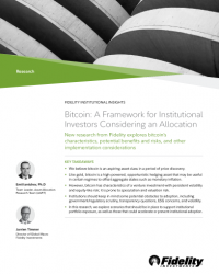 Bitcoin: A Framework for Institutional Investors Considering an Allocation