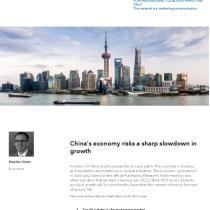 China's economy risks a sharp slowdown in growth