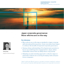 Japan corporate governance: More reforms are on the way