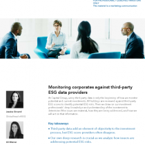 Monitoring corporates against third-party ESG data providers